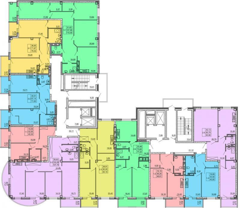 Планировка типового этажа ЖК Маяк.jpg