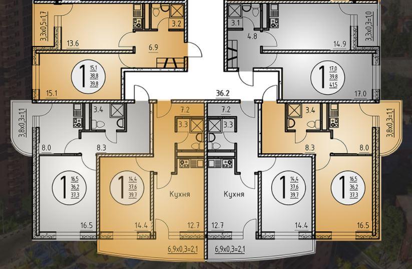 литер 3 новостройка жк звезда столицы планировки квартир на этаже.JPG
