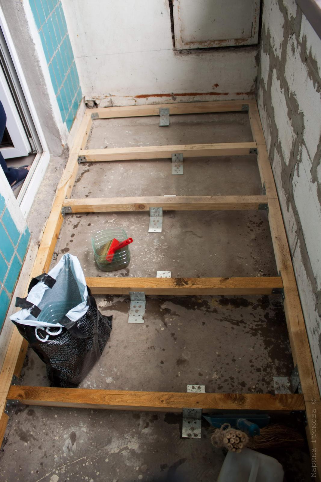 Как самому сделать пол на балконе делаем сами strojkairemont.