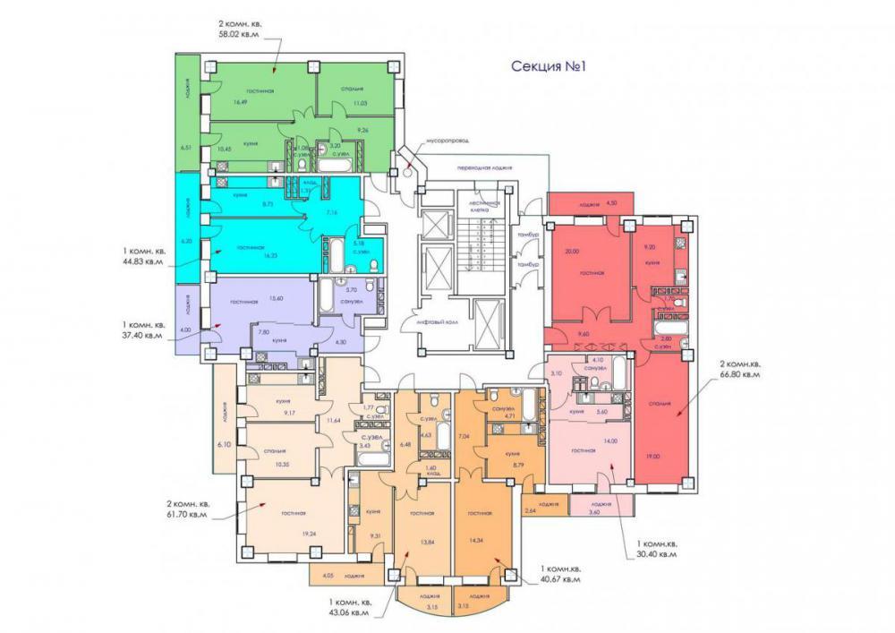 планировки квартир жк южный.jpg