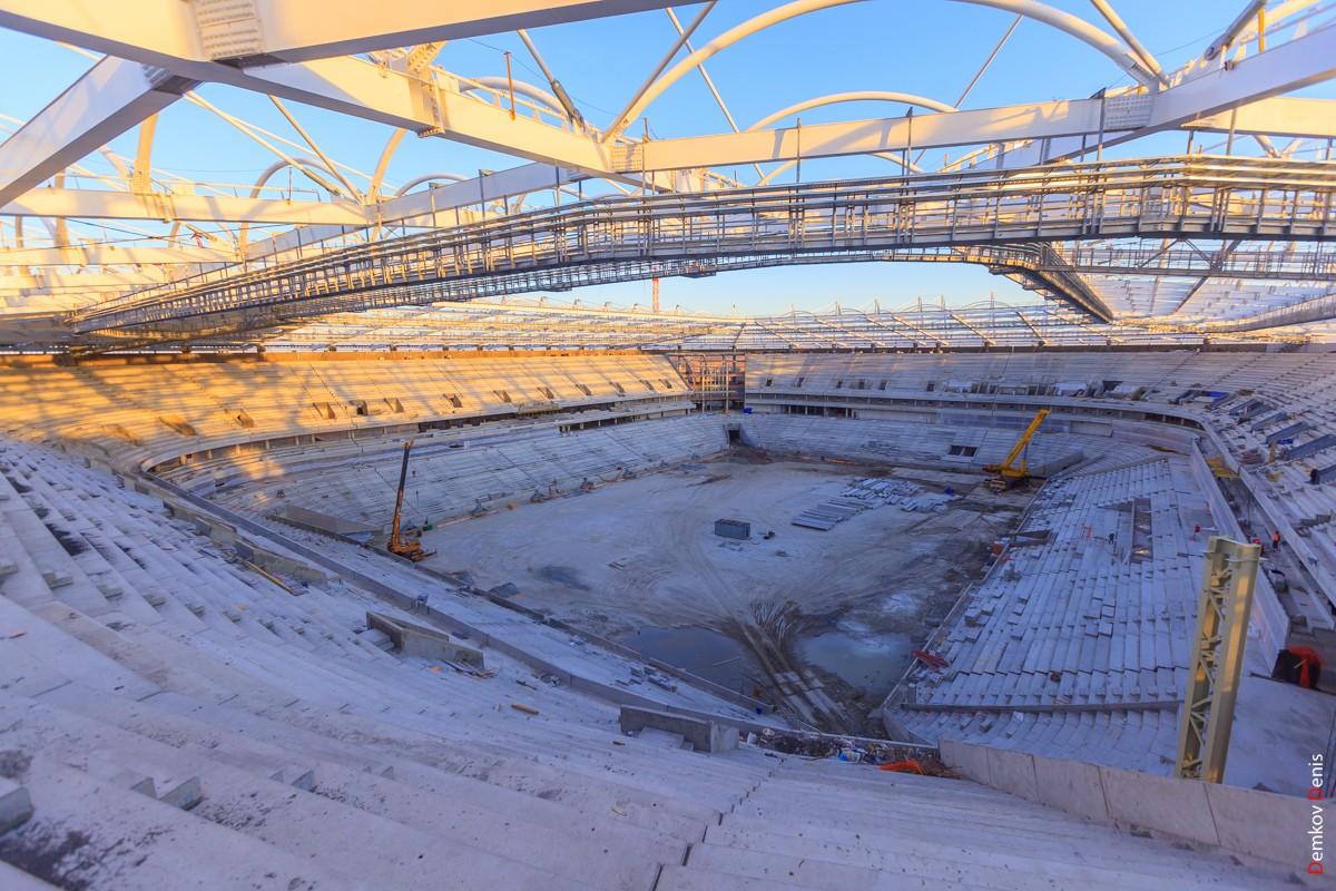 Фото строительство стадиона в ростове