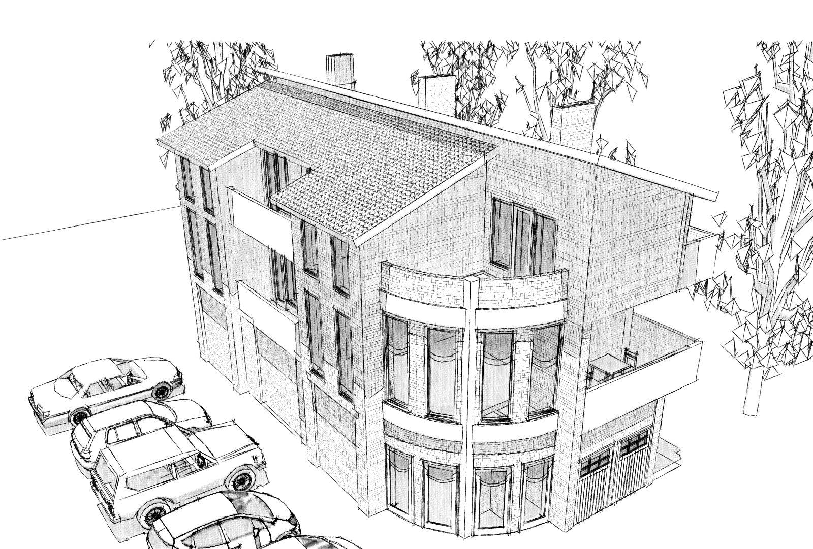 план дом рисунок кухня