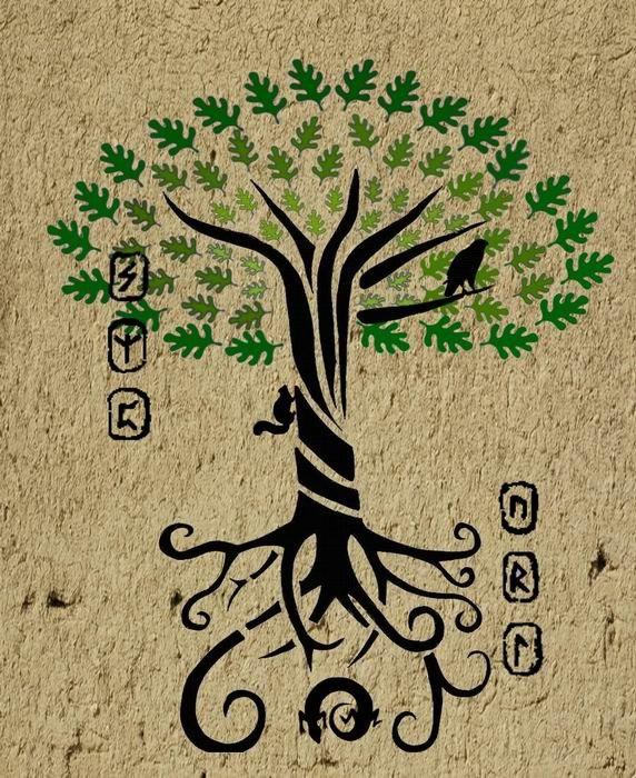 Руны дерево жизни иггдрасиль 28