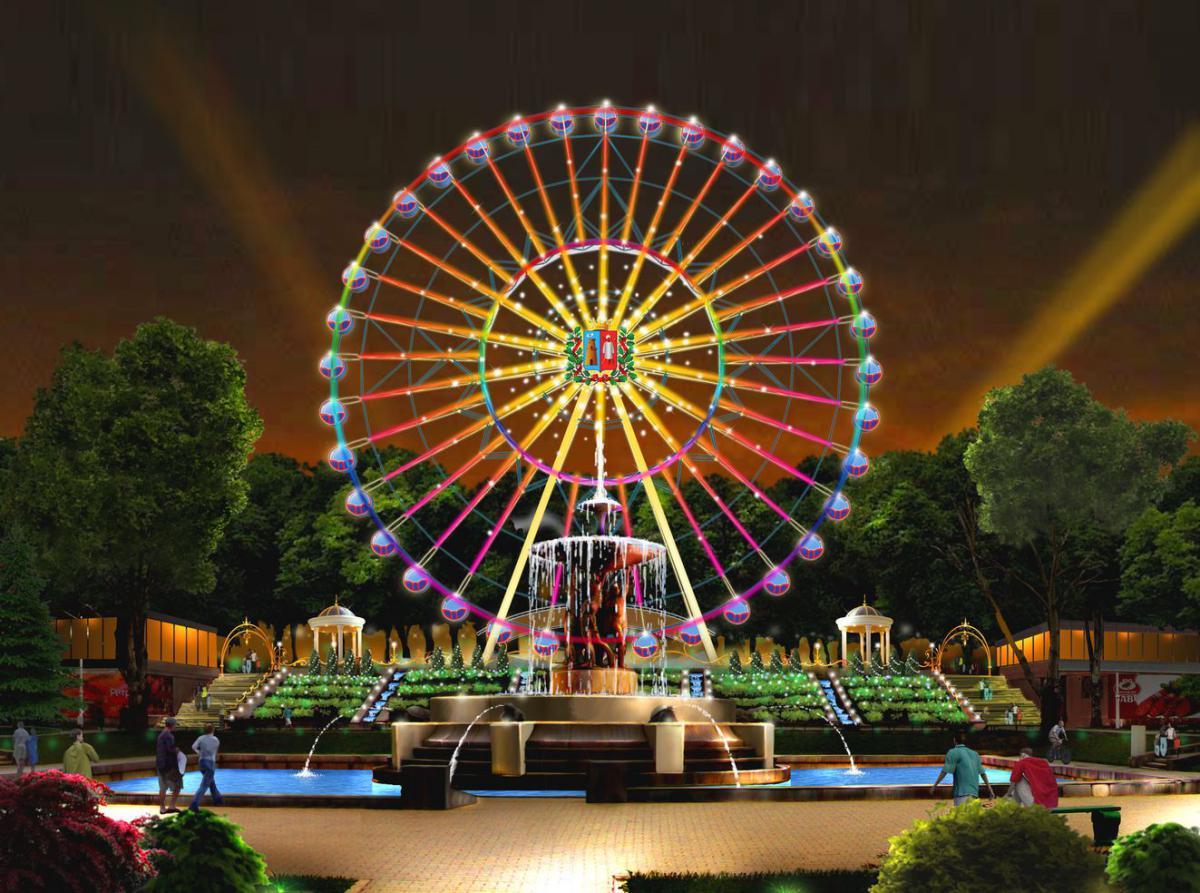 колесо обозрения в ростове в парке революции фото