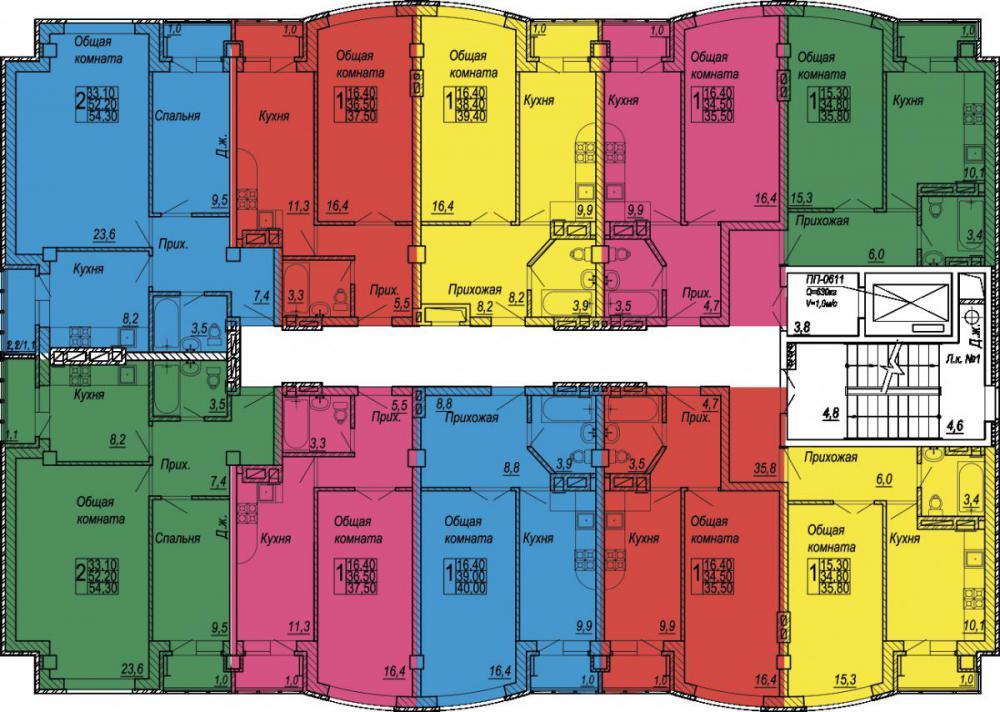 планировки квартир ЖК Дом по ул. 35 линия, 8-10.jpg