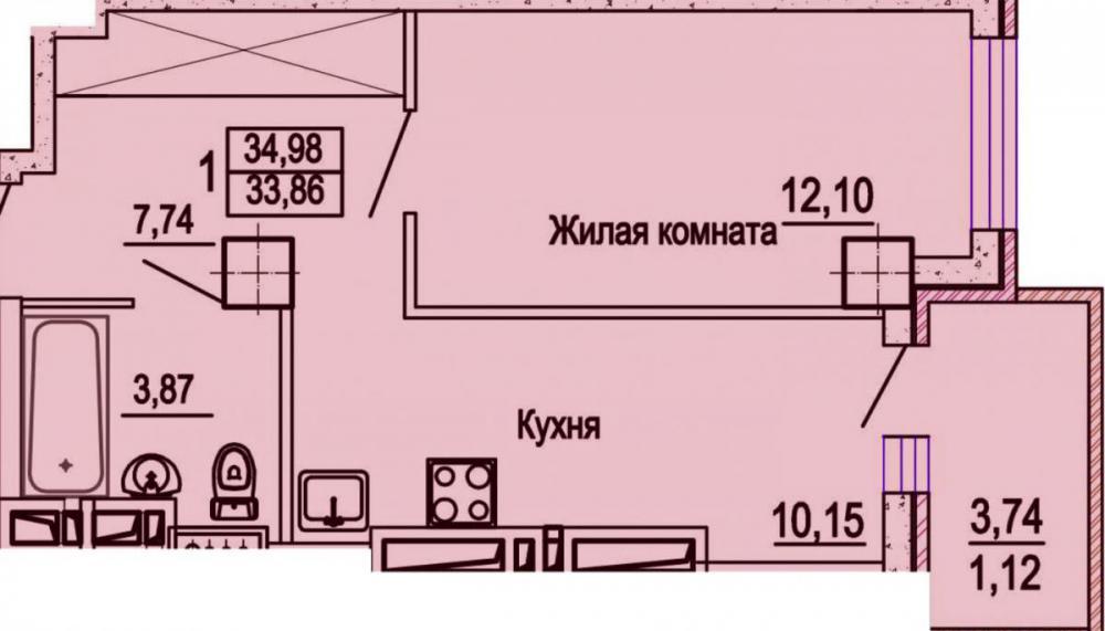 жк уютный дом на мечникова планировка 1 комнатных 1_1.jpg