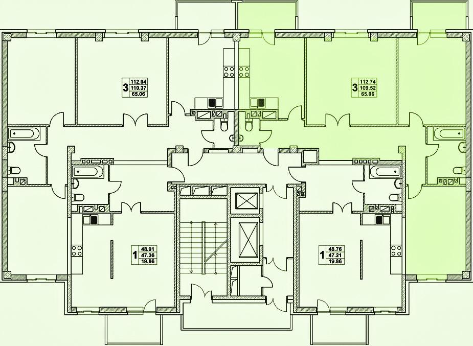 жк нахичевань планировка 1 подъез 3 этаж_1.jpg