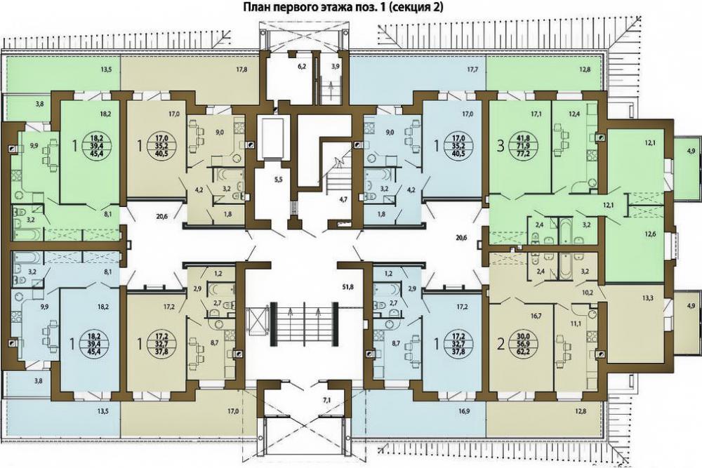 жк берёзовая роща план 1 этажа 1 (секцыия 2).jpg