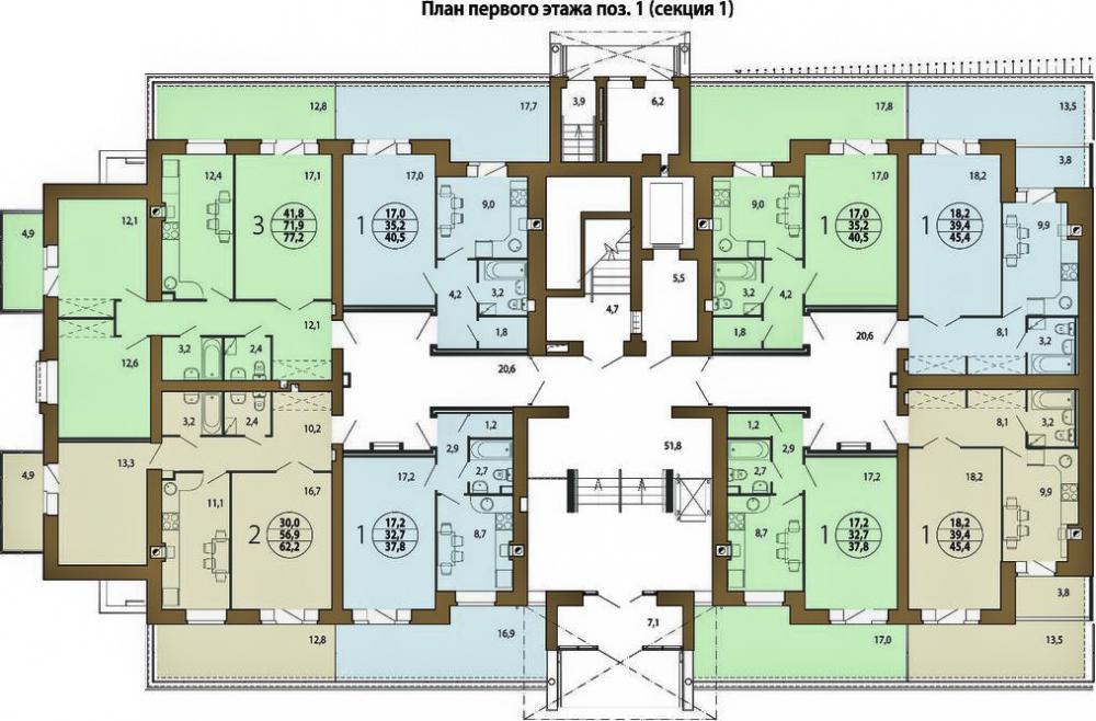 жк берёзовая роща план 1 этажа 1 (секция 1).jpg