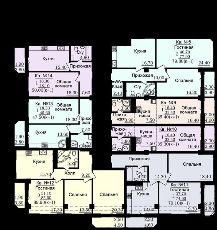 планировки квартир чехова донстрой