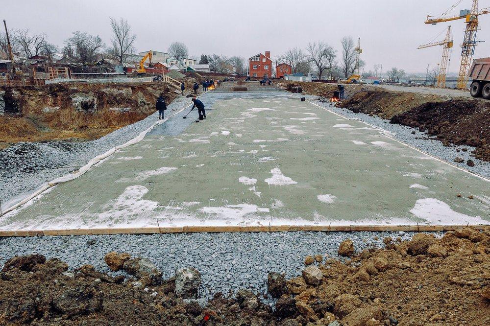 строительство школы в красном аксае