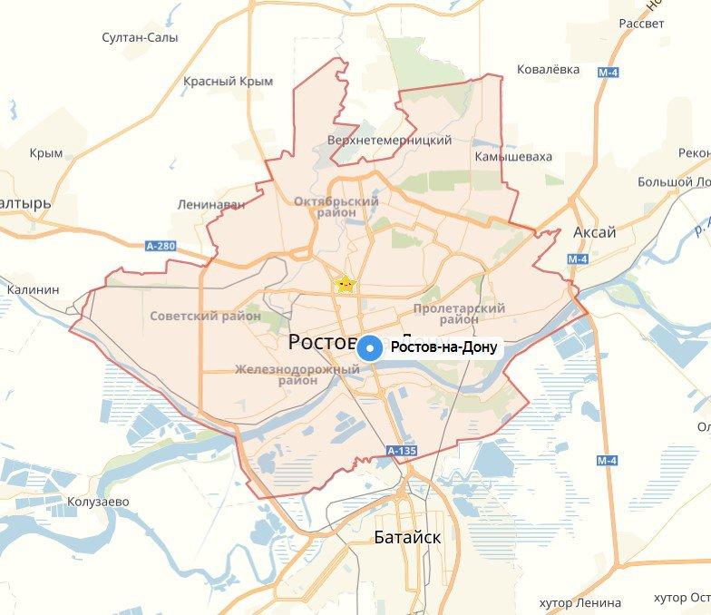 центр ростова на дону на карте