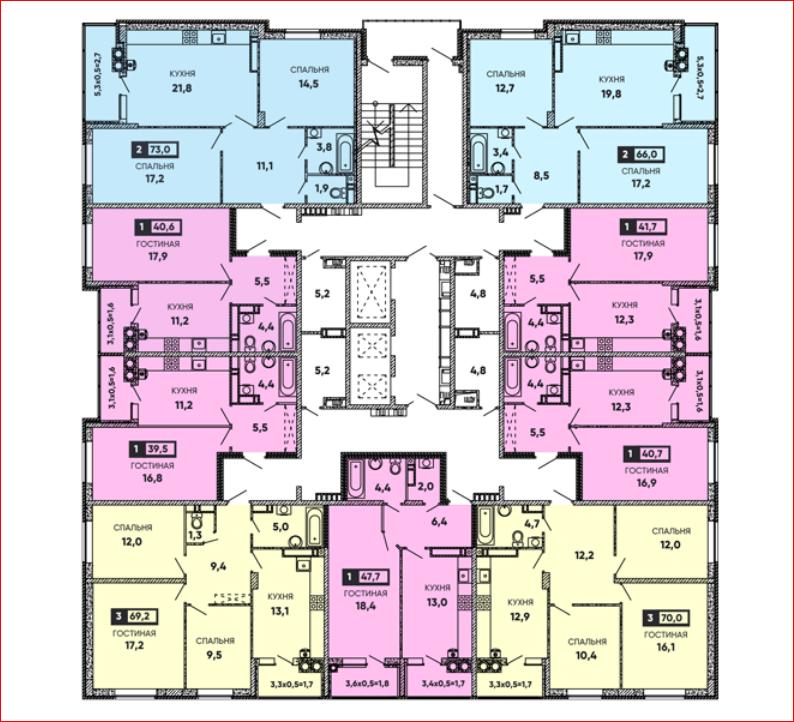 планировки квартир вересаево