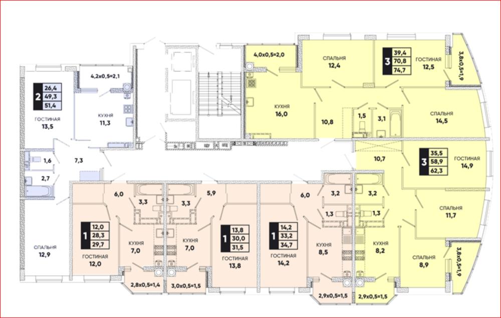 квартиры вересаево планировки